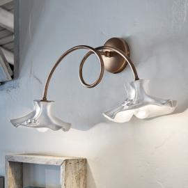 Délicieuse applique Eleonora à deux lampes