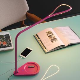 Lampe à poser LED rose Kinx