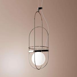 Suspension LED filigrane Setareh chromée