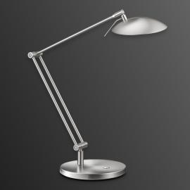 Fantastique lampe de bureau LED COIRA nickel mat