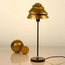 Théâtrale lampe à poser SNAIL ONE, brun et or