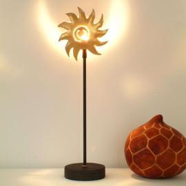 Charmante lampe à poser SONNE GOLD en fer