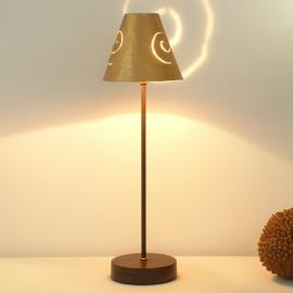 Élégante lampe à poser SCHNECKENHUT OR en fer
