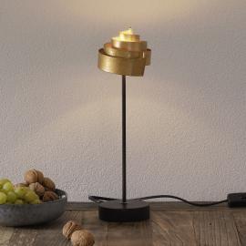 Jolie lampe à poser BANDEROLE GOLD en fer
