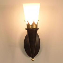 Applique rustique CORONA avec décorations dorées