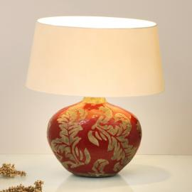 Lampe à poser Toulouse Oval argile vernissée rouge