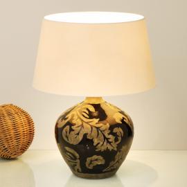 Lampe à poser Toulouse argile vernissée noir