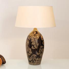 Lampe à poser Toulouse 65 cm noir et boue