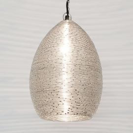 Suspension Colibri en fil métallique nickelé