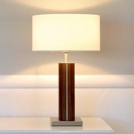 Dana - lampe à poser de qualité, pied bois massif
