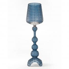 Lampadaire de designer Kabuki avec LED, bleu clair
