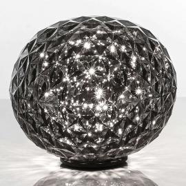 Lampe à poser LED sphérique Planet, gris fumée