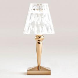 Lampe à poser LED décorative Battery, dorée