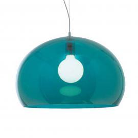Kartell Big FL/Y suspension LED, bleu pétrole