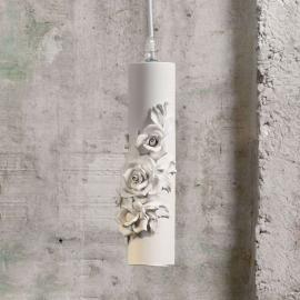 Suspension LED design Capodimonte en céramique