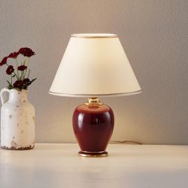 Lampe à poser Bordeaux hauteur 34cm diamètre 25cm