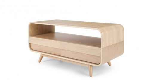 Esme, meuble TV compact, frêne
