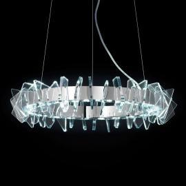 Suspension LED annulaire EOS ornée de verre