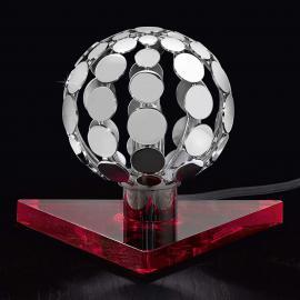 Petite lampe à poser SFERA avec socle rouge