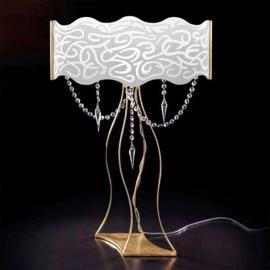 Magnifique lampe à poser à pampilles MAREA