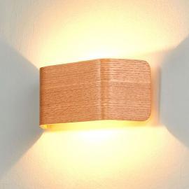 Applique LED Skate, couleur bois