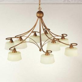 Suspension Alessio à 9 lampes