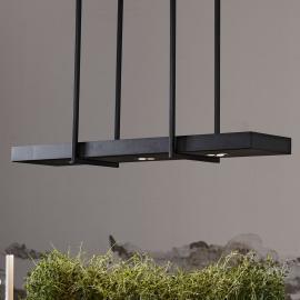 Suspension LED Tray en noir