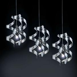 Suspension gracile SILVER, 3 lampes