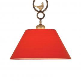 Suspension PROVENCE CHALET décorative et rouge