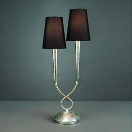 Lampe à poser à 2 lampes Paola avec abat-jour