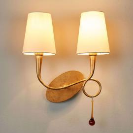 Applique dorée Paola à 2 lampes
