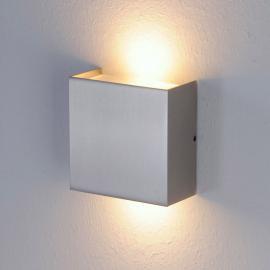Applique LED Mira à finition nickel mat