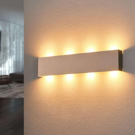 Applique LED Maja aspect nickel 54 cm