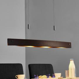 Suspension LED Malu en bois - ajustable en hauteur