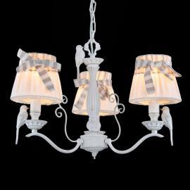 Suspension Bird à 3 lampes avec abat-jour en lin