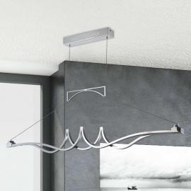 Suspension LED chromée brillante Wave, dimmable
