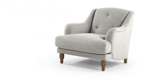 Ariana, fauteuil, gris clair