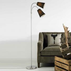 Lampadaire LELIO à 2 lampes avec bras flexibles
