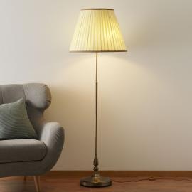 Elégant lampadaire ROSELLA abat-jour plissé