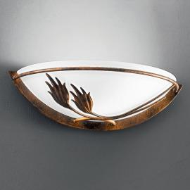 Applique AROSA au style rustique, verre satiné