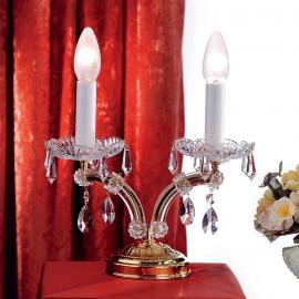 Lampe de bureau noble TJURA avec cristaux