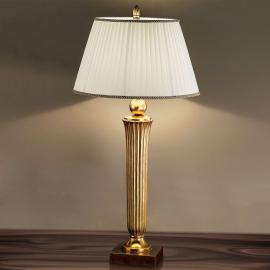 Lampe de bureau attrayante JANNI à tonalité dorée