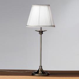 Lampe à poser classique Ellen abat-jour plissé