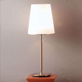 Lampe à poser Konus, abat-jour en verre