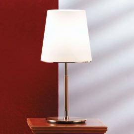 Lampe à poser Konus 45cm avec abat-jour en verre