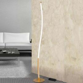 Lampadaire LED doré Alen