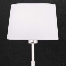 Lampe à poser textile Vardan à abat-jour blanc