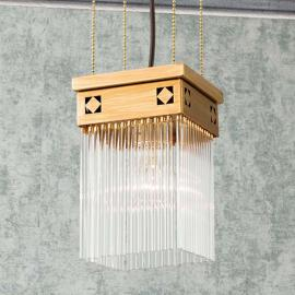 Suspension Frieda de style Art nouveau, une lampe