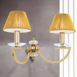 Applique Avala deux lampes, finition or véritable