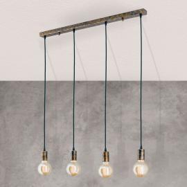 Suspension Rati vintage à quatre lampes